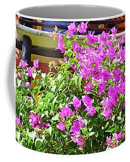 Purple Flowers By The Balcony Coffee Mug