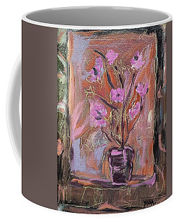 Purple Flowers In Vase Coffee Mug