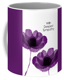 Purple Flowers Sympathy Card- Art By Linda Woods Coffee Mug