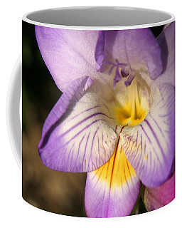 Purple Fresia Flower Coffee Mug by Ralph A  Ledergerber-Photography