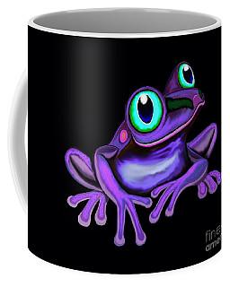 Coffee Mug featuring the painting Purple Frog  by Nick Gustafson