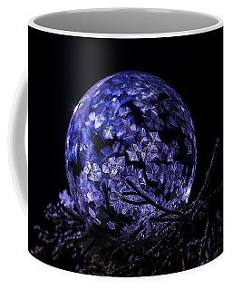 Purple Frozen Bubble Art Coffee Mug