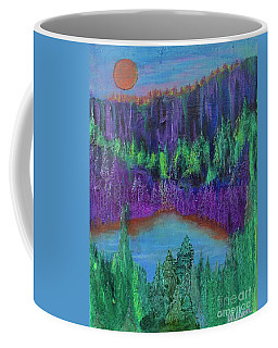 Coffee Mug featuring the painting Purple Gorge by Kim Nelson