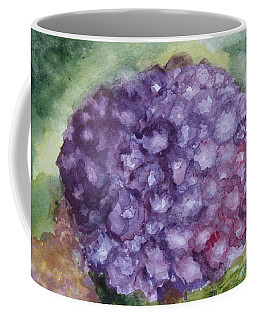 Coffee Mug featuring the painting Purple Hydrangea by Donna Walsh