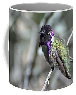 Coffee Mug featuring the photograph Purple Iridescence  by Fraida Gutovich