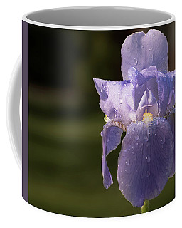 Purple Iris After The Rain Coffee Mug