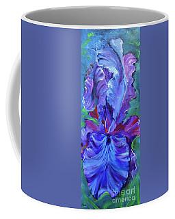 Purple Iris Coffee Mug by Jenny Lee