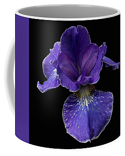 Coffee Mug featuring the photograph Purple Japanese Iris by Jean Noren