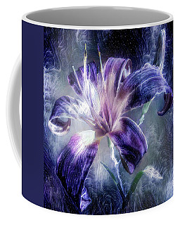 Purple Lily Flower Coffee Mug