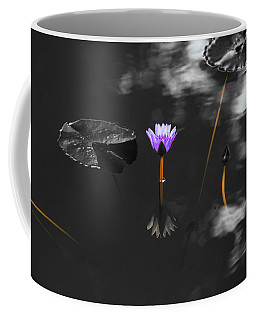 Purple Lily In Black And White Coffee Mug