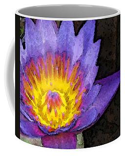 Purple Lotus Flower - Zen Art Painting Coffee Mug
