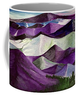 Coffee Mug featuring the painting Purple Mountains Majesty by Kim Nelson