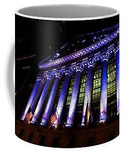 Purple New York Stock Exchange At Night - Impressions Of Manhattan Coffee Mug