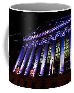 Purple New York Stock Exchange At Night - Impressions Of Manhattan Coffee Mug