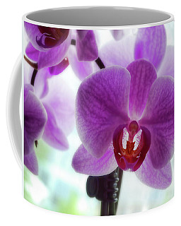 Coffee Mug featuring the photograph Purple Orchid by Ann Powell