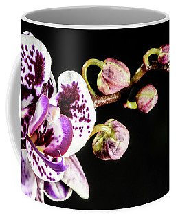 Purple Orchid Reaching Out Coffee Mug