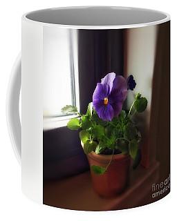 Purple Pansy On My Windowsill Coffee Mug