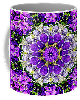 Purple Passion Floral Design Coffee Mug