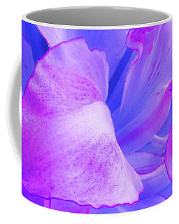 Purple Petals Abstract Coffee Mug by Gill Billington