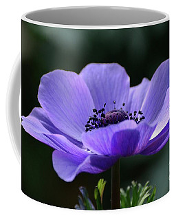 Purple Poppy Mona Lisa Coffee Mug