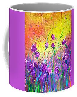 Purple Posies Coffee Mug