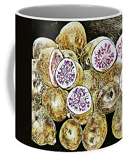 Purple Potatoes Mosaic Style Coffee Mug