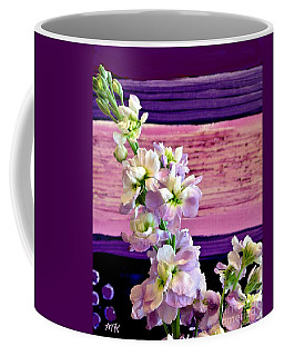Coffee Mug featuring the photograph Purple Purple Everywhere by Marsha Heiken