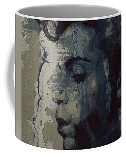 Coffee Mug featuring the mixed media Purple Rain - Prince by Paul Lovering