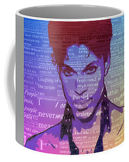 Purple Rain Typography Coffee Mug