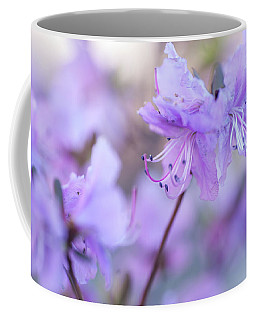 Coffee Mug featuring the photograph Purple Rhododendron 1. Spring Watercolors by Jenny Rainbow