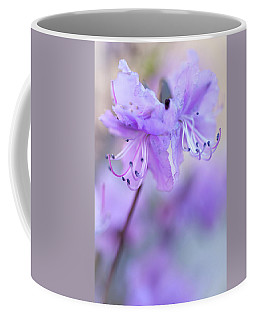 Coffee Mug featuring the photograph Purple Rhododendron. Spring Watercolors by Jenny Rainbow