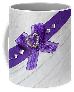 Purple Ribbon Heart Coffee Mug