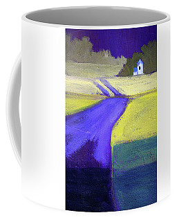 Purple Road Abstract Landscape Painting Coffee Mug