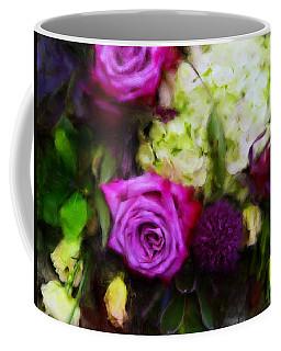 Purple Roses With Hydrangea Coffee Mug