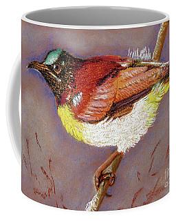 Purple Rumped Sunbird Coffee Mug by Jasna Dragun
