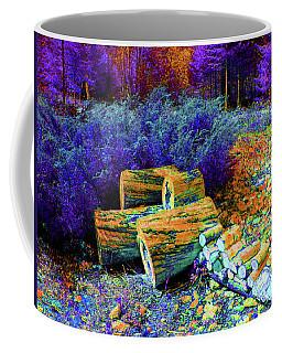 Purple Scenic Woodpile Coffee Mug