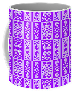 Purple Skull And Crossbones Pattern Coffee Mug
