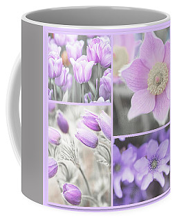 Coffee Mug featuring the photograph Purple Spring Bloom Collage. Shabby Chic Collection by Jenny Rainbow