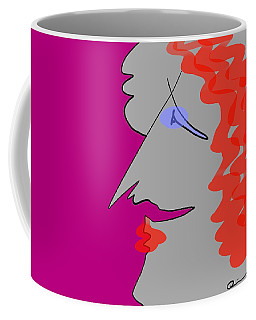 Purple Stache Coffee Mug