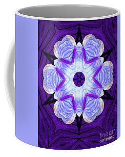 Purple Star Flower Meditation Coffee Mug
