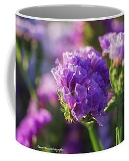 Purple Straw Flower Coffee Mug by Nance Larson
