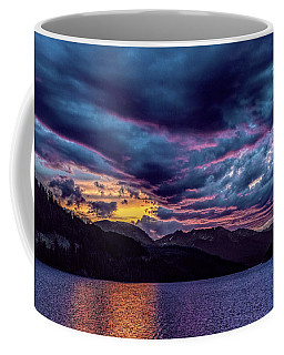 Purple Sunset At Summit Cove Coffee Mug