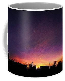 Purple Sunset Coffee Mug by Karen Slagle
