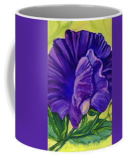 Purple Sweet Pea Coffee Mug