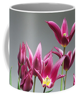 Purple Tulips Coffee Mug by Helen Northcott