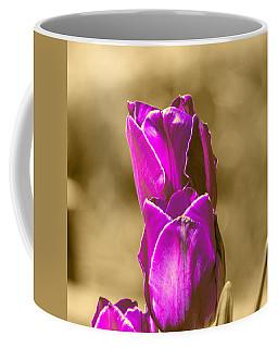 Purple Tulips Sepia Background Coffee Mug