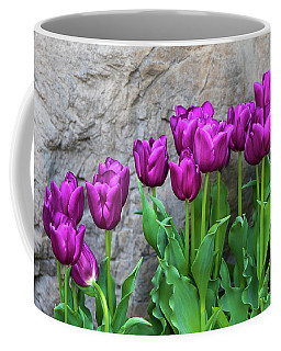Purple Tulips Coffee Mug by Tom Mc Nemar