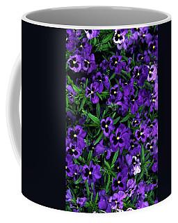 Purple Viola Flowers Coffee Mug by Sally Weigand