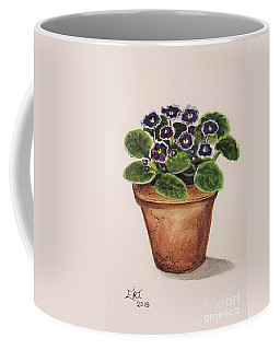 Purple Violets Coffee Mug
