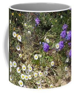 Purple White Flowers Coffee Mug